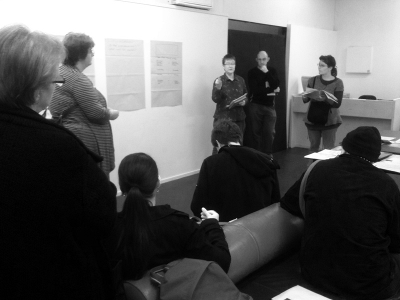 First meeting of the Art/Text/Clearinghouse project -- we are looking for your ideas