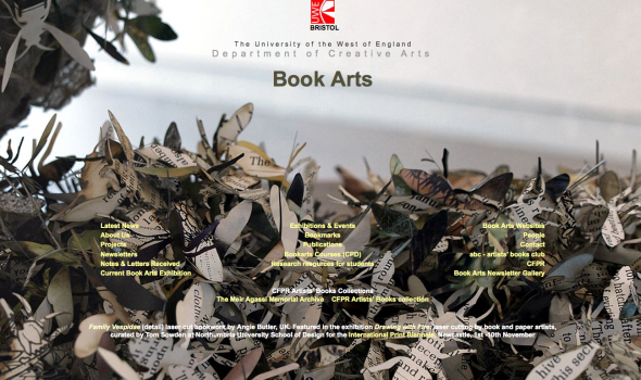 'Book Arts' - Centre for Fine Print Research, University of the West of England website
