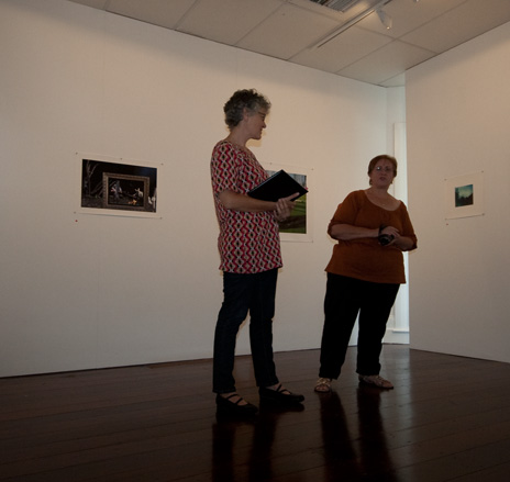Jennie Newman and Di Souphandavong at the Artist's Talk