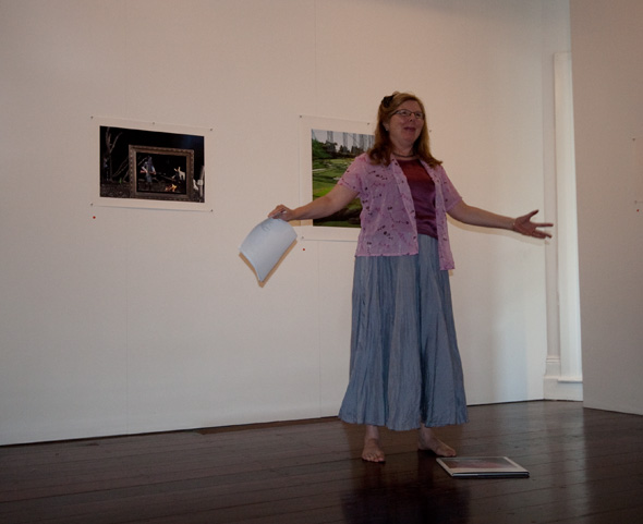 Liana Joy Christensen reading at the Artist's Talk