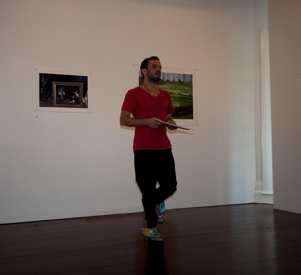 Scott-Patrick Mitchell reading at the Artist's Talk