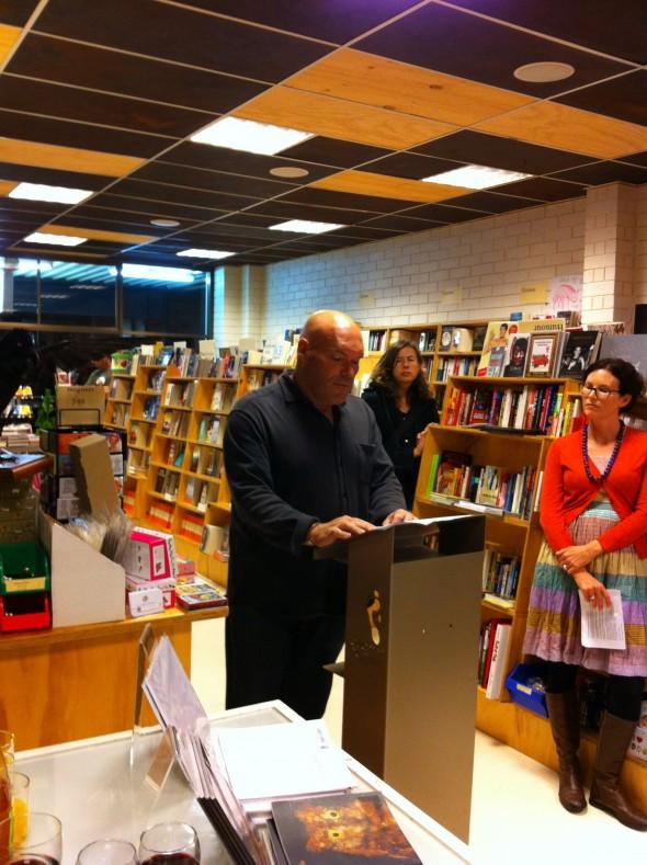 Kevin Gillam launching A Simple Rain